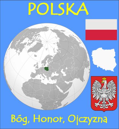 Poland location emblem motto