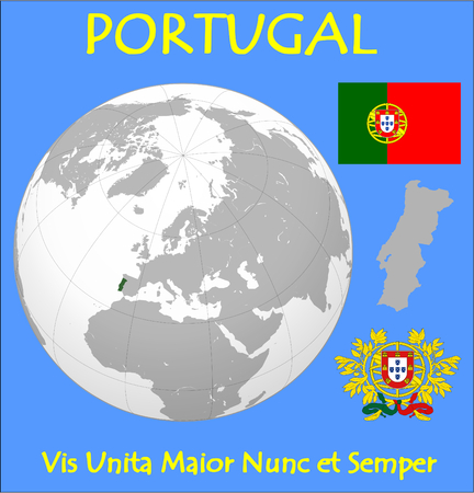 historic world event: Portugal location emblem motto