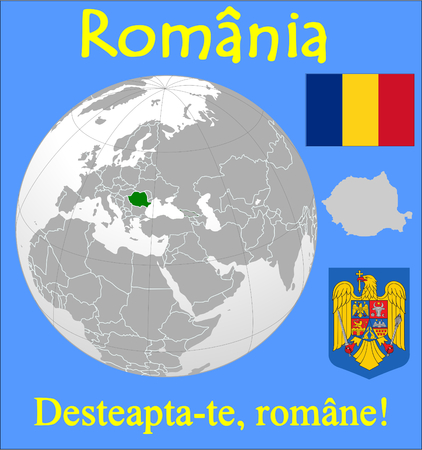 Romania location emblem motto