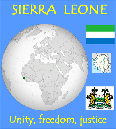 historic world event: Sierra Leone location emblem motto