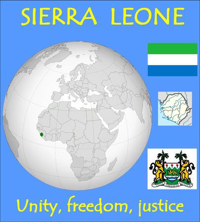 conurbation: Sierra Leone location emblem motto