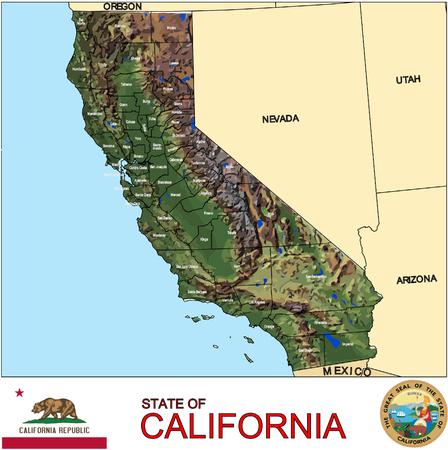 캘리포니아 카운티지도