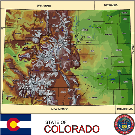historic world event: Colorado Counties map