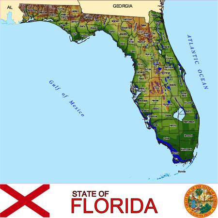 conurbation: Florida Counties map