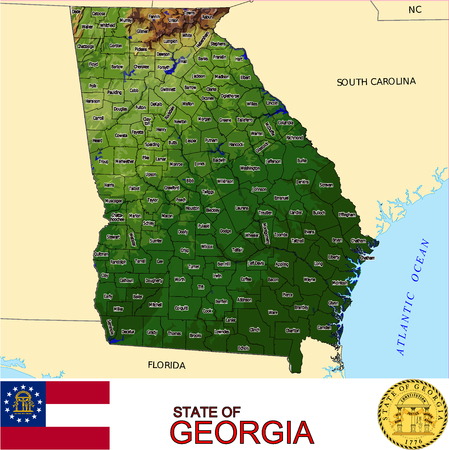 renminbi: Georgia Counties map