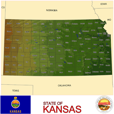 renminbi: Kansas Counties map
