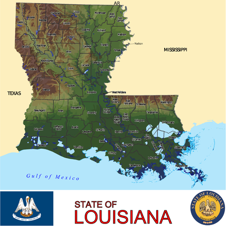 renminbi: Louisiana Counties map