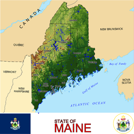 Maine Country map