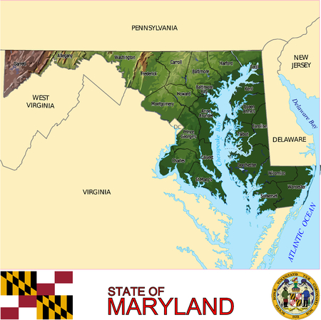 conurbation: Maryland Country map