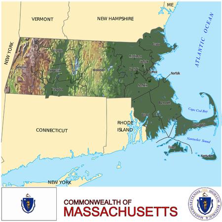 conurbation: Massachusetts Country map