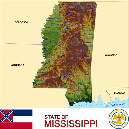 conurbation: Mississippi Country map