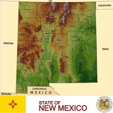Carte Nouveau Mexique Pays Banque d'images - 33896724