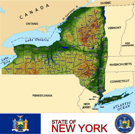 historic world event: New York Country map