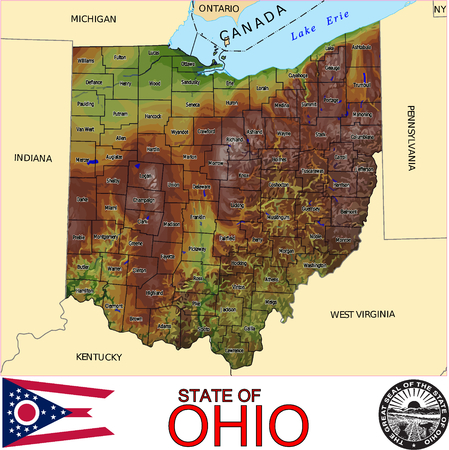 historic world event: Ohio Counties map