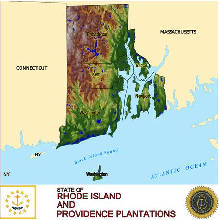 conurbation: Rhode Island Counties map