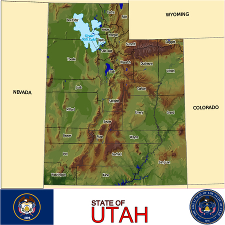 renminbi: Utah Counties map