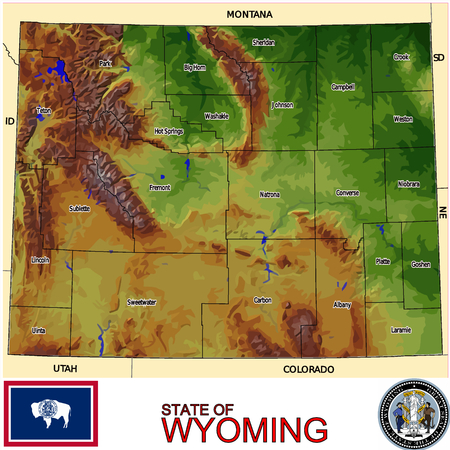 renminbi: Wyoming Counties map