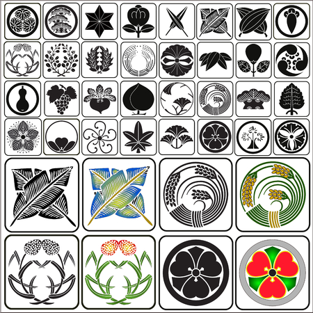 Japanse toppen set vector