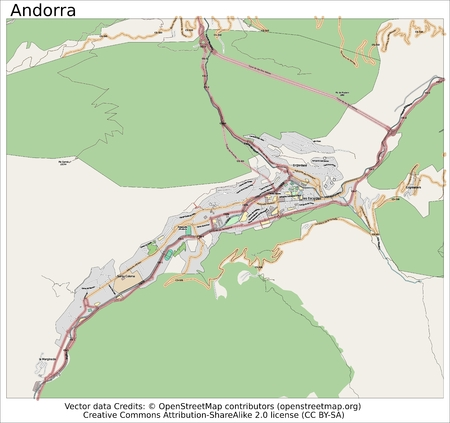 Andorra Europe map aerial view 新闻类图片