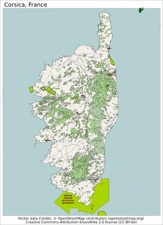 Corsica France island map aerial view 免版税图像 - 37285393