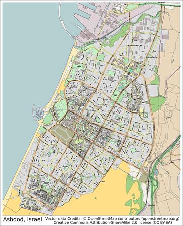 ashdod: Ashdod Israel city map aerial view