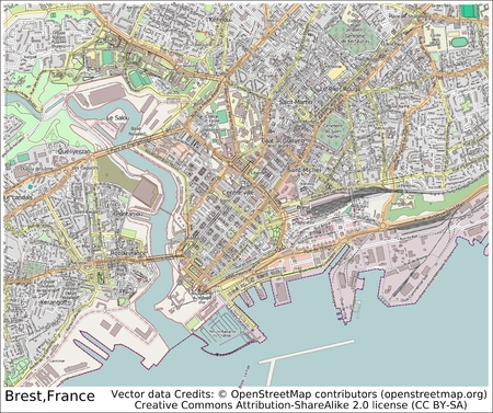 Brest France City Map Aerial View Stock Photo Picture And Royalty