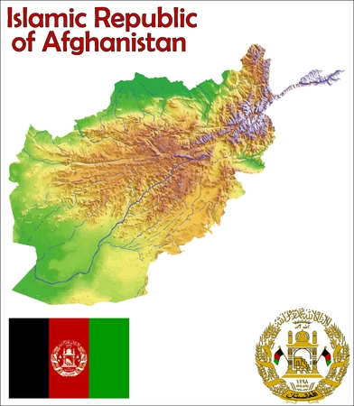 constitutional: Afghanistan map flag coat