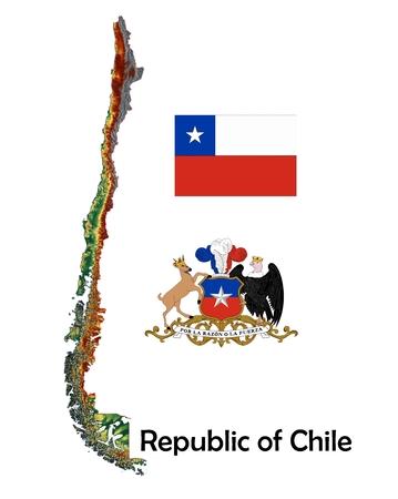 チリ地図フラグ コート