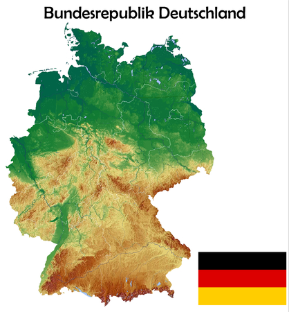 Germany map flag coat Ilustrace