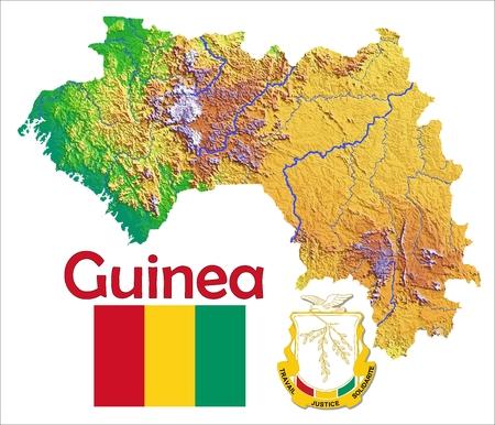 Guinea map flag coat