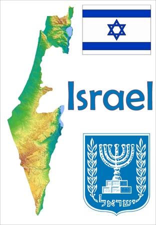 이스라엘지도 플래그 코트