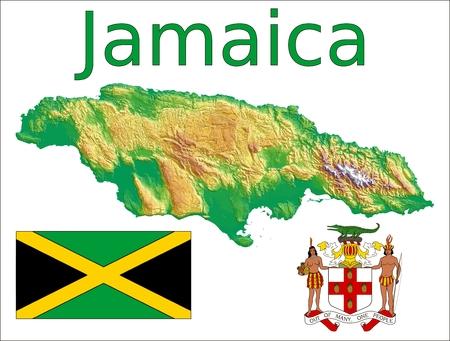 Jamaica map flag coat