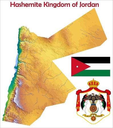 Jordanië kaart vlag jas