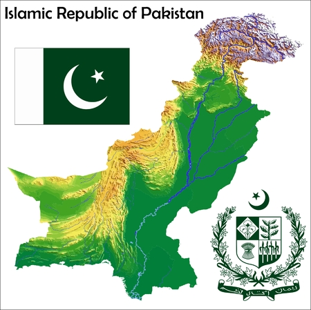 Pakistan map flag coat