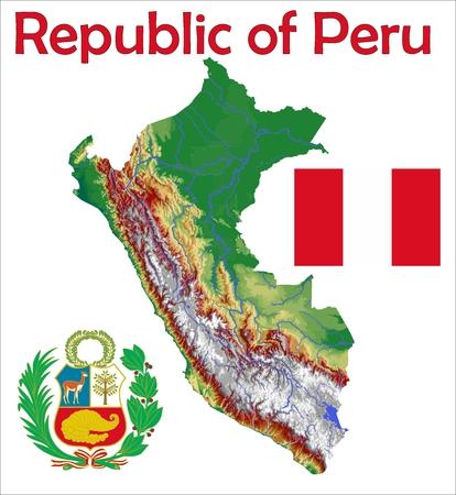 Paru map flag coat
