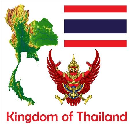 Thailand map flag coat