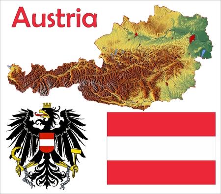 オーストリア地図旗コート