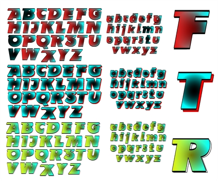combo: ABC Alphabet lettering design Future combo