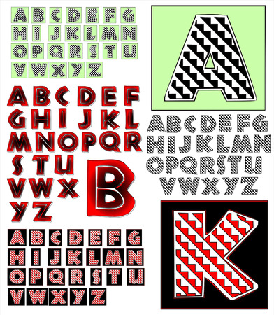 combo: ABC Alphabet lettering design African combo