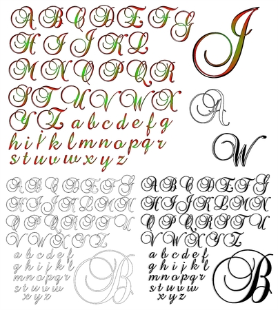 combo: ABC Alphabet lettering design Brock 1 combo Illustration