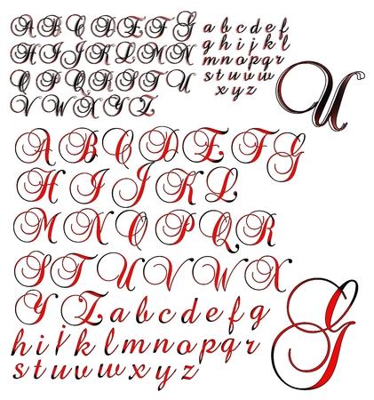 brock: ABC Alphabet lettering design Brock 2 combo