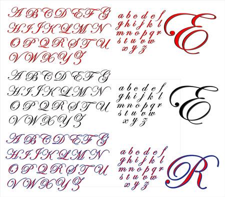 edwardian: ABC Alphabet lettering design Edwardian combo