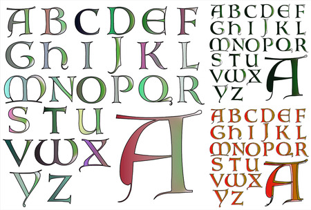 combo: ABC Alphabet lettering design Lombardy combo