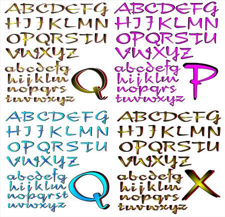 new day: ABC Alfabeto lettering Nuovo design combinato giorno
