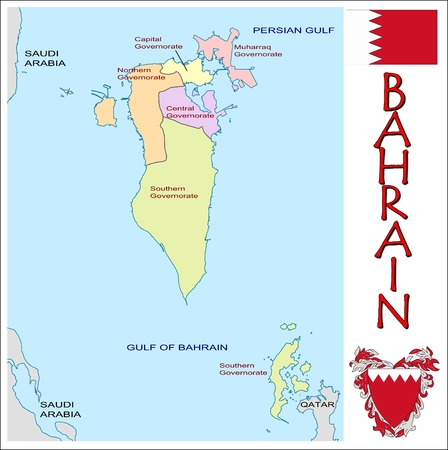 administrative divisions: Bahrain administrative divisions Illustration