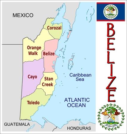 administrativo: Divisiones administrativas Belice
