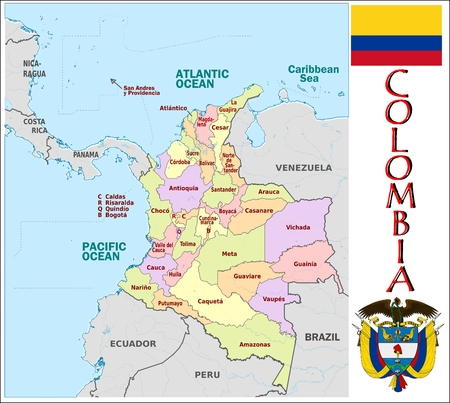 administrative: Colombia administrative divisions