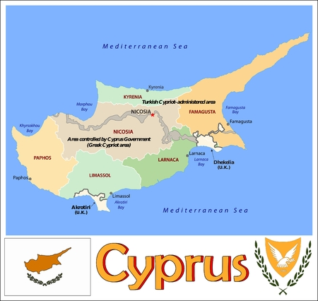 administrative: Cyprus administrative divisions Illustration