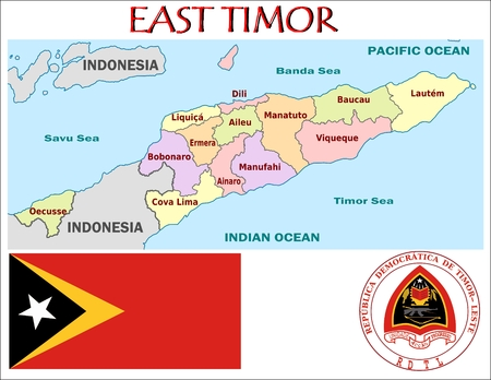 administrative: East Timor administrative divisions