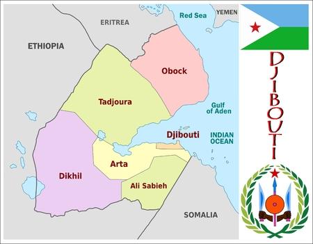 administrativo: Divisiones administrativas Yibuti